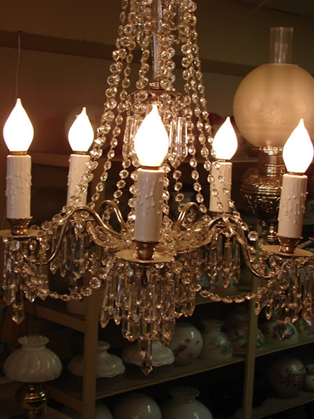 antique chandeliers 1 - decatur lamp company, decatur al